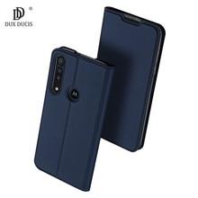 Dla Motorola Moto G8 Plus Case luksusowe skórzane etui z magnetyczną klapką dla Motorola Moto G8 + Plus stojak na karty etui na telefon