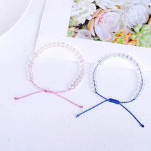 Bohemian Beach Hand-Woven Crystal Natural Stone Bracelet for Men Women Beads Handmade Friendship Snap Button Jewelry