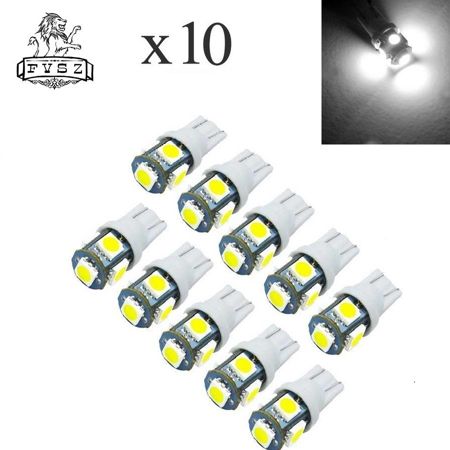 <font><b>100Pcs</b></font> Led <font><b>T10</b></font> 5050 12V W5W 194 168 6000K Car From <font><b>Canbus</b></font> Light-Emitting Diodes Independent 5Led Bulb No Errors Univ Auto Lamp image