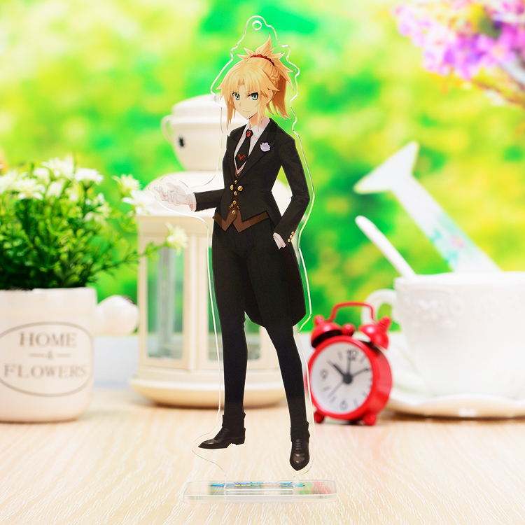 Japanese Anime Fate/Grand Order Jeanne D'Arc Acrylic Keychain Keyring Stand Figure Model Plate Desk Decor Gifts
