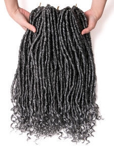 VERVES Faux Braids Hair-Extensions Hairstyle Jumbo Crochet Synthetic-Hair Locs Black