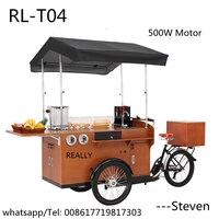 Melhor desconto RL-T04D 3 rodas 500w bicicleta de carga do motor clássico café triciclo comida carrinho