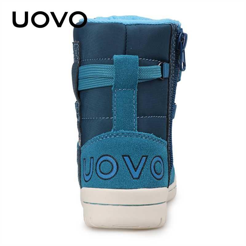 UOVO marka 2019 çocuklar kış ayakkabı moda çocuk rahat spor ayakkabılar erkek ve kız çocuklar için yüksek Top çocuk ayakkabı boyutu 28 #-39 #