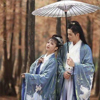 Couples Hanfu Chinese Ancient Tradition Dress Fantasia Lovers Cosplay Costume Party Fancy Dress Hanfu For Men&Women Plus Size