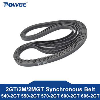 2mgt 2m 2gt synchronous timing belt pitch length 162 164 166 168 170 172 174 176 178 180 182 width 6mm rubber closed POWGE 2MGT 2M 2GT Synchronous Timing belt Pitch length 540/550/570/600/606 width 6mm/9mm Teeth 270 275 285 300 303 Loop closed