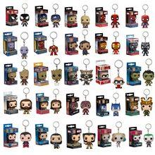 Llavero con colgante de Marvel, superhéroes DC, Superman, Batman, Wonder WOMAN, Aquaman, Escuadrón suicida, Harley, Juguetes