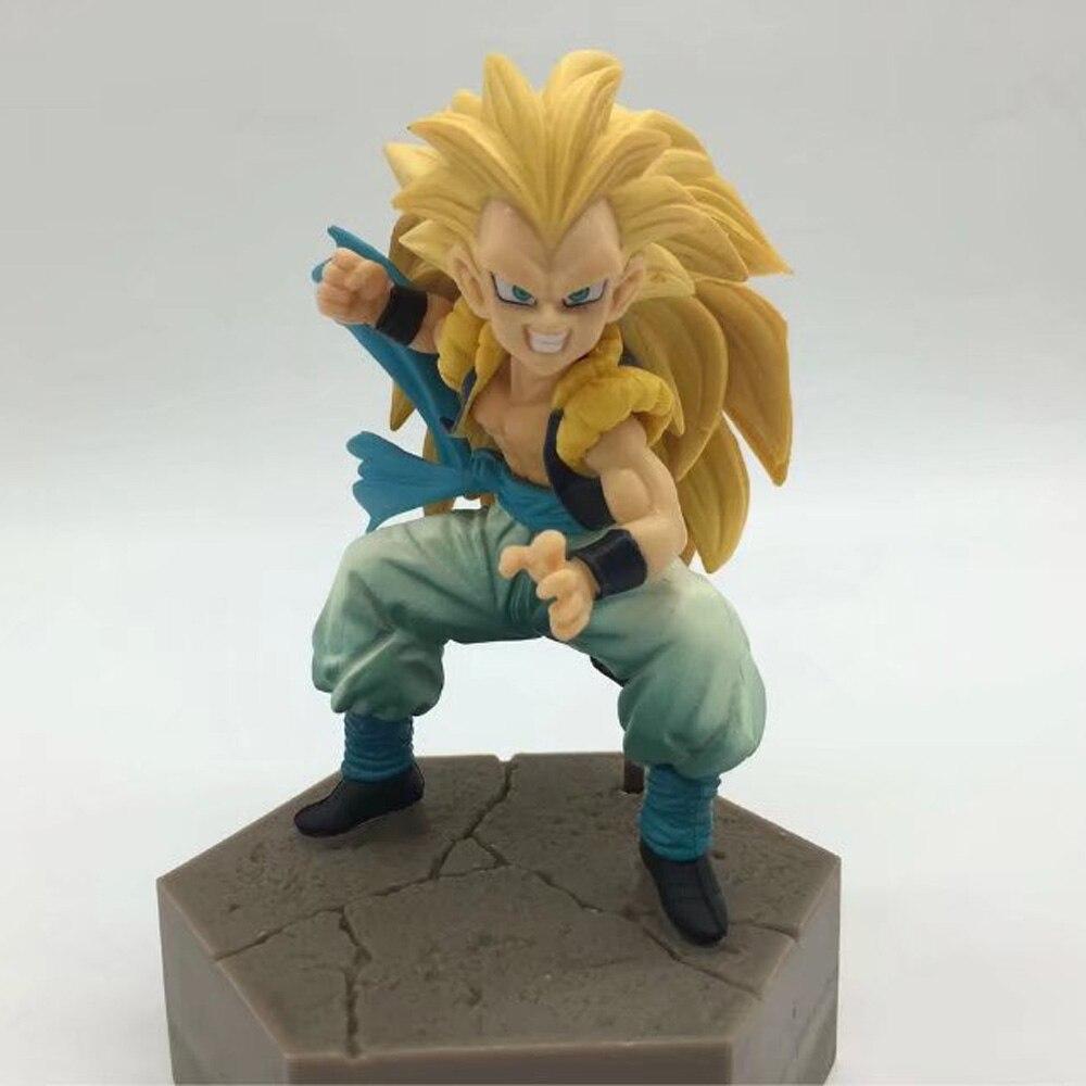 Figurine Dragon Ball Z animé Figurine Super Saiyan 3 Gotenks 10cm figurines en PVC Figura DBZ modèle de collection jouet brinqudo