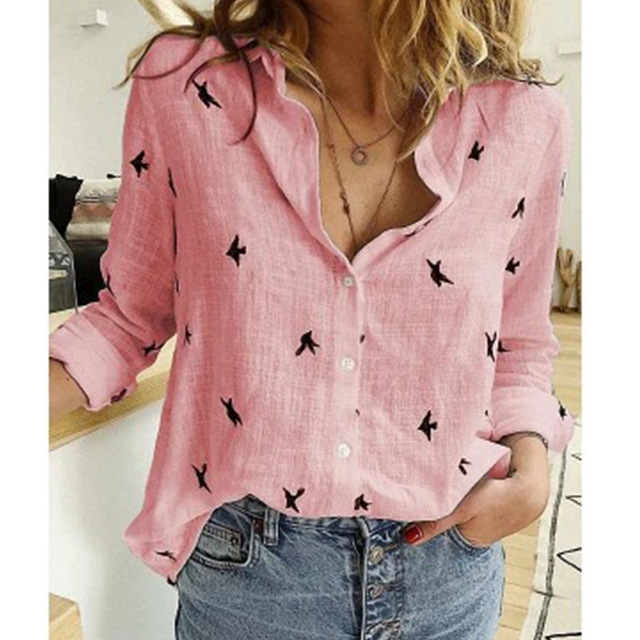 Leisure White Yellow Shirts Button Lapel Cardigan Top Lady Loose Long Sleeve Oversized Shirt Womens Blouses Spring Blusas Mujer