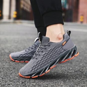 Men Blade Shoes Soft Running Shoes Men's Breathable Walking Jogging Shoes Outdoor Fashion Shoes Men Casual Cool Black 6