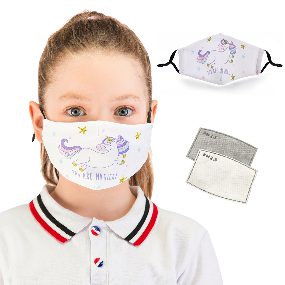 Zohra Reusable Children Mask Protective PM2.5 Filter Mouth Mask Anti Dust Face Mask Bacteria Proof Flu Mask Cute Kids Mask