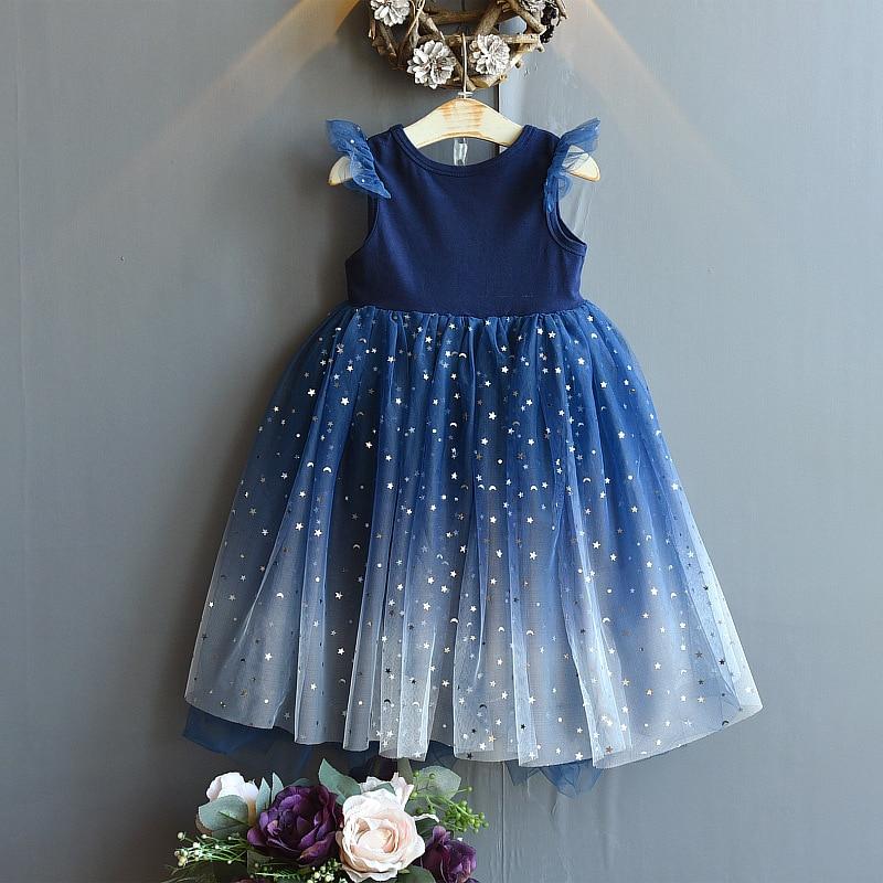 2020 New Kids Clothes Dresses For Girls Fashion Wedding Dress Girl Princess Dress Children's Wear Party Star Dress 3
