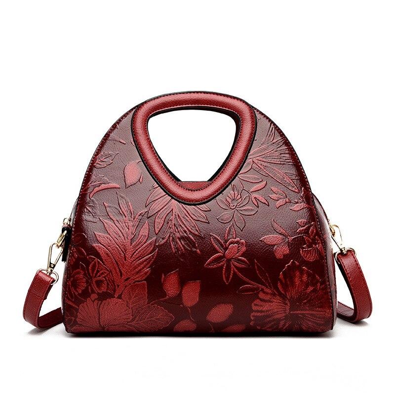 Bolsas de Couro para Mulheres em Relevo Marca de Luxo Femininos de Couro Bolsa de Ombro de Alta Crossbody para as Mulheres Floral Macio Qualidade Bolsas 2020