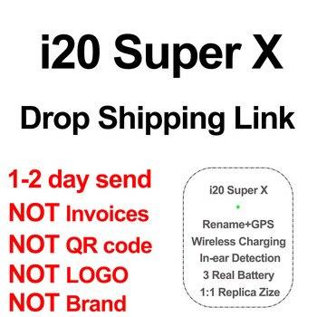 Auriculares TWS i20 Super X, inalámbricos por Bluetooth 2020, enlace de envío directo