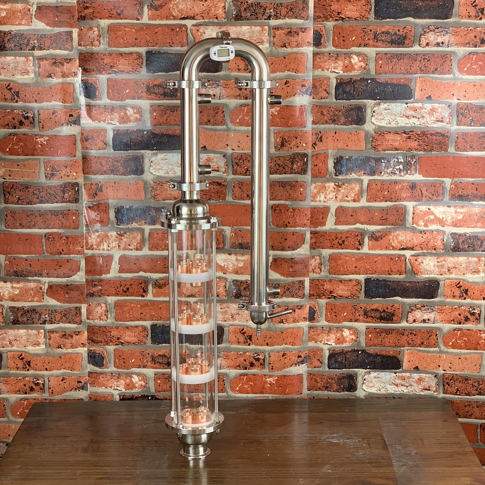 Glass Column For Distillation. Copper Bubble Plates 4pcs . Moonshine Still. Distiller