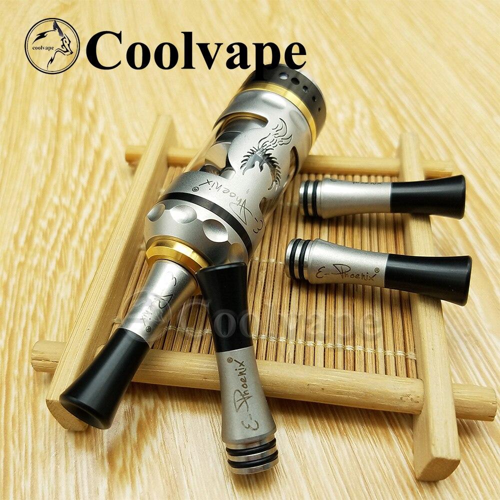Coolvape 510 Long Drip Tip Firebird Rta Drip Tip Metal Drip Tip Fit Taifun Kayfun Rta DIY For Berserker V1.5 V2 MTL Rta
