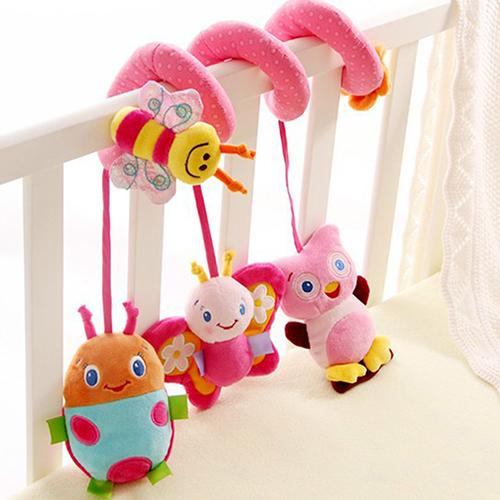Multifunction Lovely Baby Bed Hanging Rattle Butterfly Bee Owl Soft Crib Toy