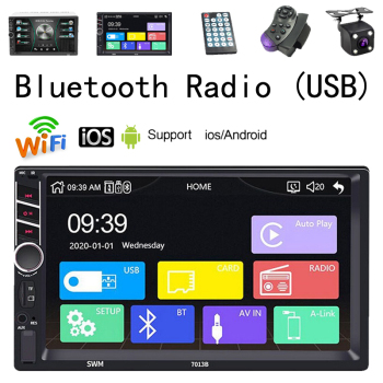 2 Din Car Monitor Radio 7 Inch Touch Music Video Player MP5 Auto Multimedia Bluetooth FM TF Support USB Android IOS Phone