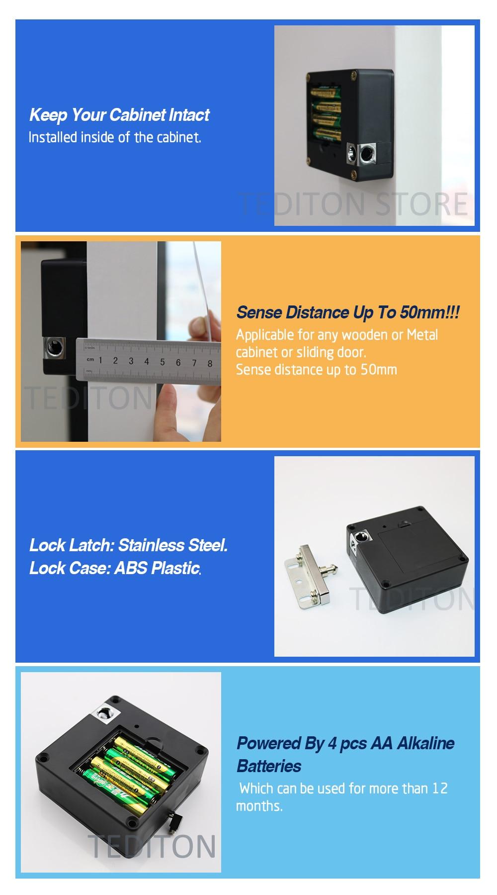 Hf3ca8a718e37441da5c6c5e137f3c499d Electronic Keyless Digital Door Lock, Invisible RFID Locker Card hidden Lock for Private Drawer, wardrobe cabinet door lock