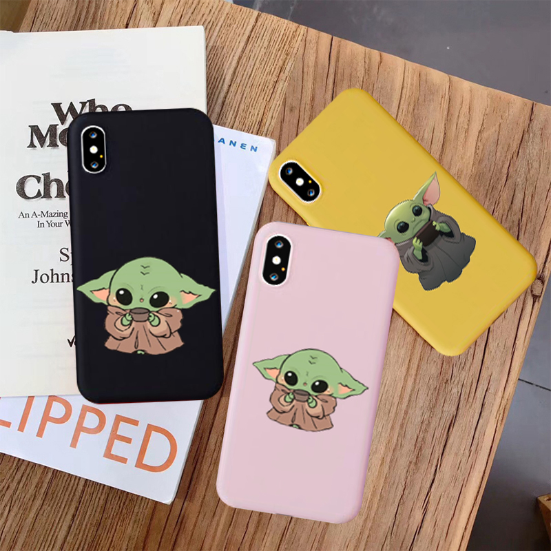 GYKZ Cartoon Baby Yoda Meme Silicone Phone Case For iPhone XS MAX 11 Pro X XR 6s 7 8 Plus Mandalorian Soft Back Cover Shell Capa image