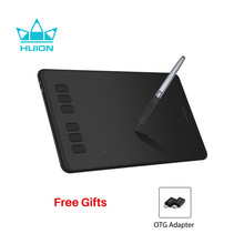 HUION Inspiroy H640P tabletas de dibujo Digital sin batería pluma para gráficos Tablet con 8192 niveles de presión Stylus con regalo OTG