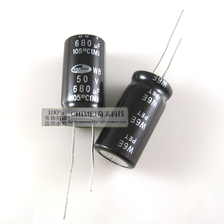 Free Delivery. 680 uf electrolytic capacitors 50 v capacitor image