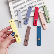 Solid color push-pull ring multi-function U-type mobile lazy bracket phone buckle for