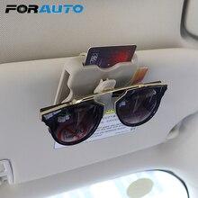 FORAUTO чехол для автомобильных очков, солнцезащитный козырек, держатель для солнцезащитных очков, высокоскоростной зажим для карт, автомобильный органайзер, аксессуары для интерьера