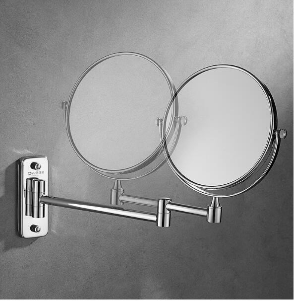 Punch-livre fixado na parede extensível ampliação espelho