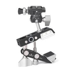 Desktop Universal Multifunction C-style Camera Screw clamp + 360 Degree Mini Ball Head 1/4 Screw Flash Speedlite Accessories