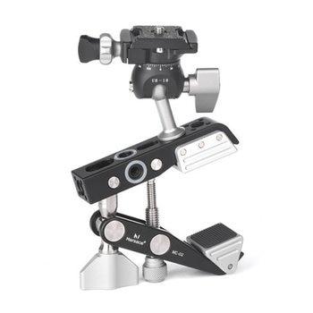 "Desktop Universal Multifunction C-style Camera Screw clamp + 360 Degree Mini Ball Head 1/4"" Screw Flash Speedlite Accessories"