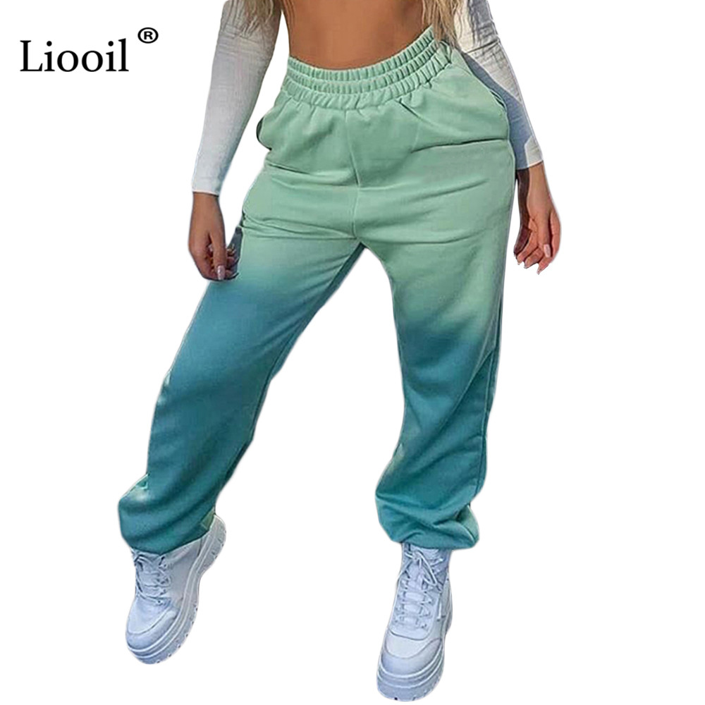 High Quality Cotton Sweat Pants For Women Loose High Waist Winter Trousers Black White Womens Joggers Sweatpants With Pockets