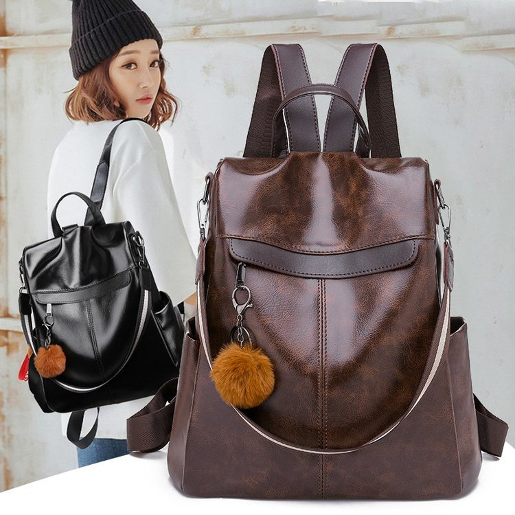 New Style Backpack Europe And America Popular Fashion Simple Anti-Theft WOMEN'S Bag Manufacturers Wholesale On Behalf Of Export