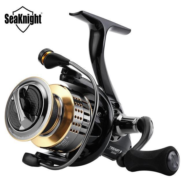 $ US $22.59 SeaKnight TREANT II 5.0:1 6.2:1 Fishing Reel 1000H-6000H Spinning Reel 15KG/33LBs Carbon Fiber Drag Power Carp Fishing Tackles