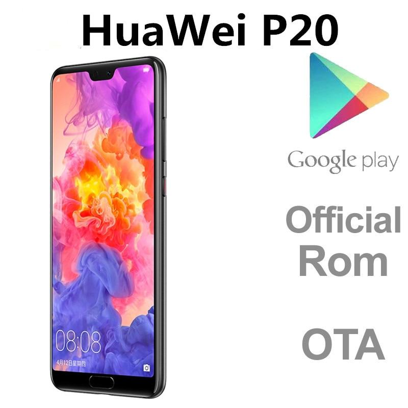 "DHL Schnelle Lieferung HuaWei P20 4G LTE Handy Kirin 970 Android 8,1 5.8 ""2244x1080 6GB RAM 128GB ROM 24,0 MP Fingerprint OTG"