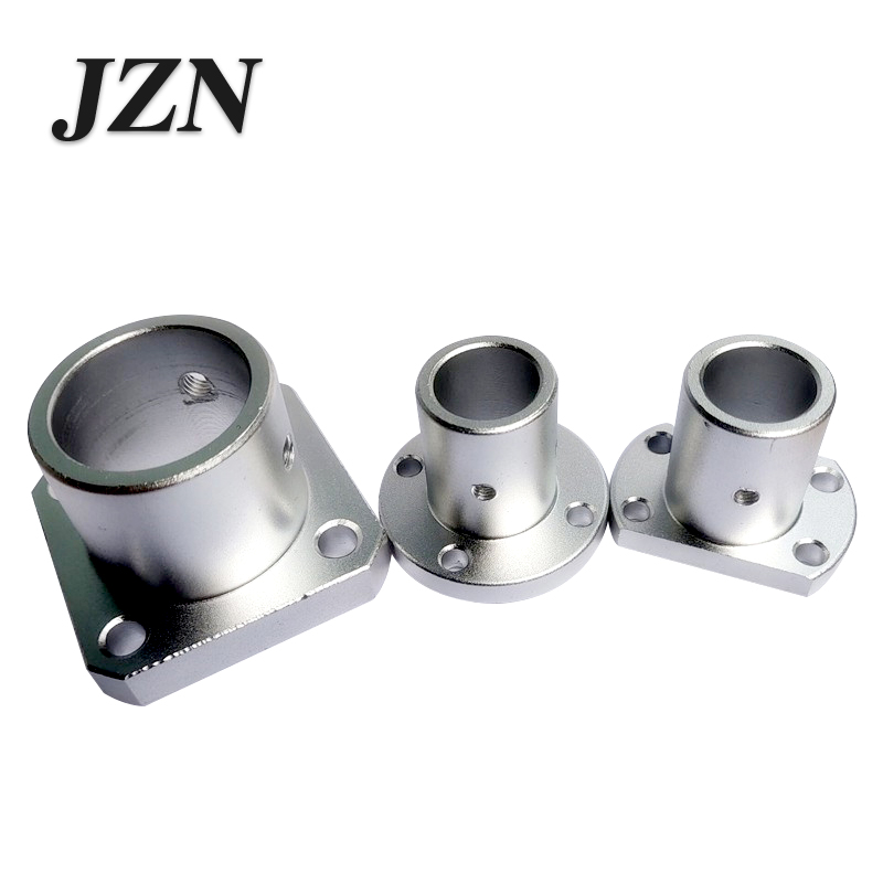 Guide Shaft Support Base Optical Axis Support Seat Round Flat Flange Optical Axis Mount 8 10 12 15 16 20 25 30 35 40 50