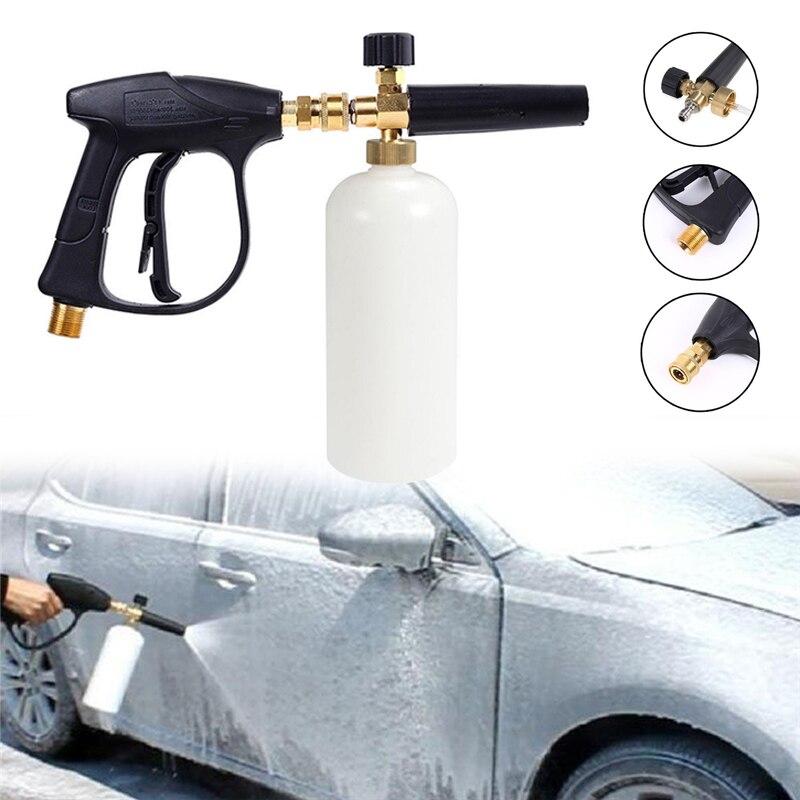 1/4 Car Wash Snow Foam Cannon Gun Bottle Sprayer Adjustable Snow Foam Lance Gun High Pressure Snowflake Foam Nozzle Watering Can