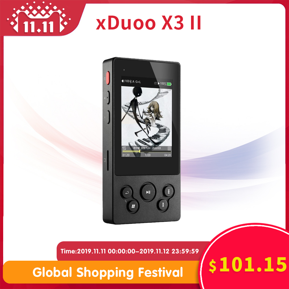xDuoo X3II X3 ii hi fi player mp3 portable bluetooth lossless music dsd hi-res flac wav