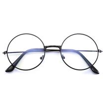 1 шт., винтажная круглая металлическая оправа, синий светильник, блокирующие очки для глаз, стиль колледжа, прозрачные линзы, защита для глаз, для телефона, игры