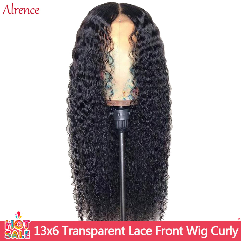 Curly Human Hair Wig 13x6 Lace Front Human Hair Wigs Hd Transparent Lace Wig 13x4 Lace Curly HumWig 150 Remy Brazilian Hair Wigs