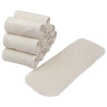 Pieluchy dla dzieci zmywalna tkanina Nappy wkładka 4-warstwa dla małych dzieci 1Pc wielokrotnego użytku wygodne tanie tanio Foreveryang 10-12 miesięcy 1PC Cloth Nappy Insert Microfiber + Bamboo Fiber