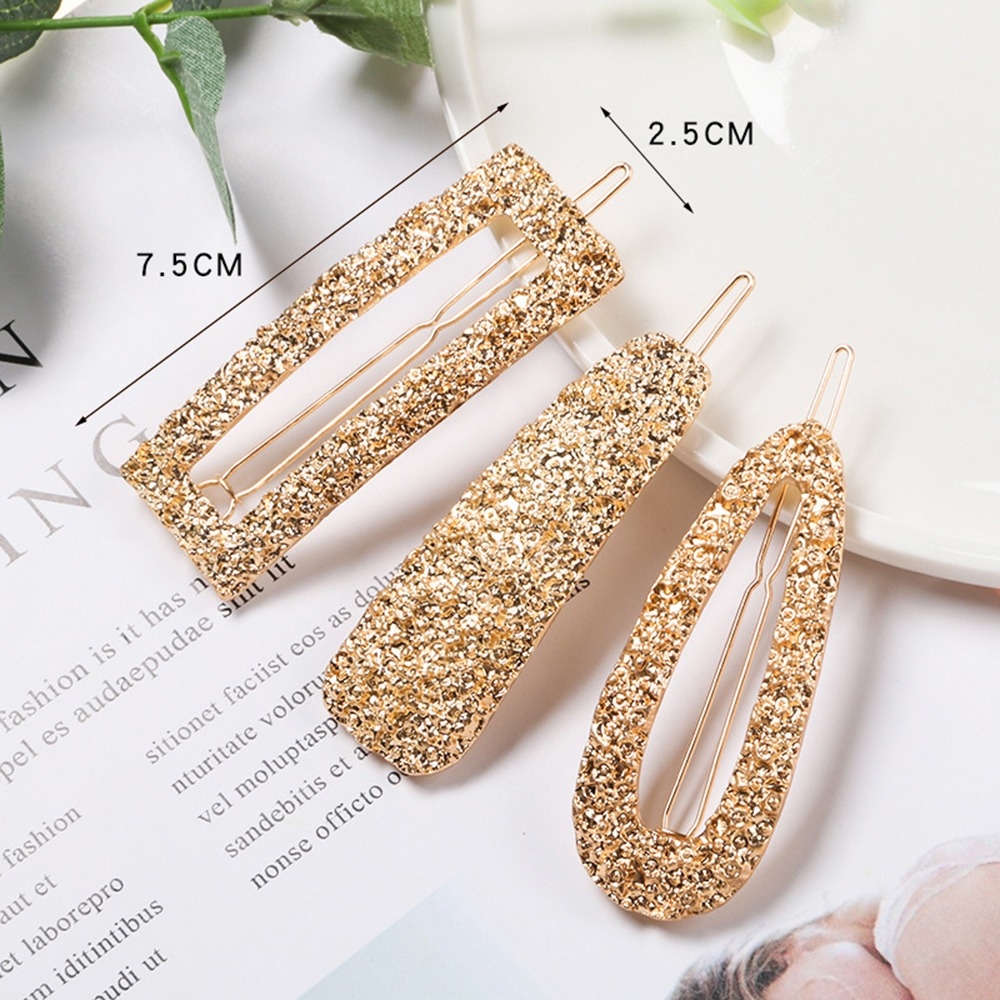 Fashion Geometric Water Drop Rhinestone Hair Clip Hairpin Hair Accessories Women Hair Clip Claw Tools