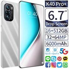 6 7 inch 5G Smartphone K40 Pro  16GB 512GB android 10 0 Mobile Phones 24 48MP Dual SIM Telefon Global Version 6000mAh