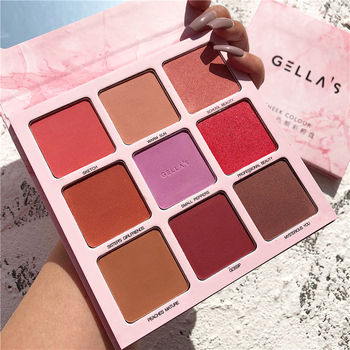 9 Color Makeup Face Blush Palette Pigmented Cheek Blusher Matte Shimmer Eyeshadow Palette Bronzer Highlighter Contour Powder ruby rose face makeup cheek blusher pigmented natural face blusher powder cosmestics professional palette blush contour shadow