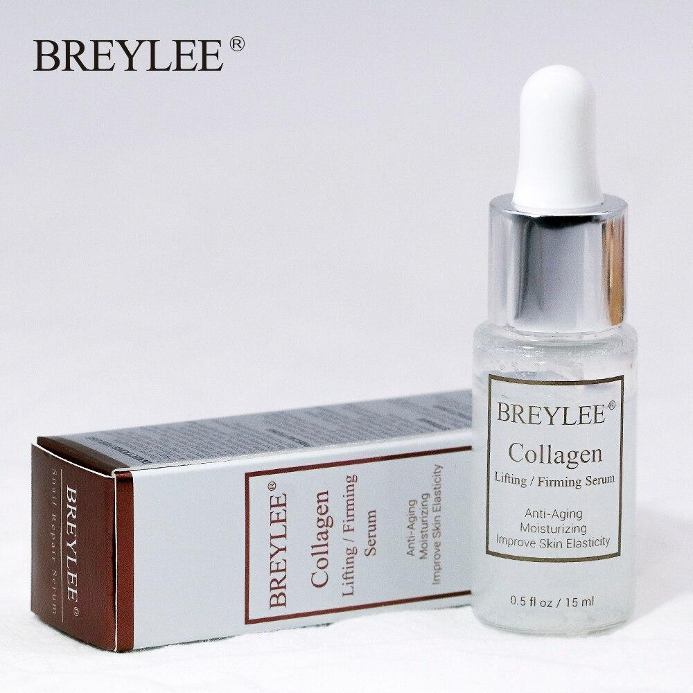 Купить с кэшбэком BREYLEE Collagen Serum Lifting Firming Hyaluronic Acid Moisturizing Essence Anti-Aging Remove Wrinkles Face Cream Skin Care 15ml