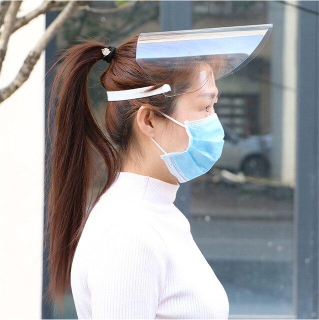 Transparent Adjustable Full Face Shield Plastic Anti-fog Garden Industry Protective Fack Mask Clear Flip-Up Visor Anti-dust Hot 5