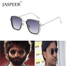 JASPEER Square Sunglasses For Men New Punk Polarized Sun Glasses Male Driver Retro Sunglasses UV400 очки солнцезащитные мужские