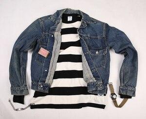 Image 5 - T Shirt à manches longues pour homme, cintré, à rayures, pour moto, NON STOCK