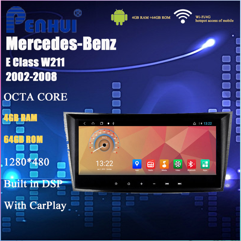 PENHUI Octa Core Android 8.1 dvd player for car for Benz E class <font><b>W211</b></font> (2002-2008)(E200 / E220 /E240 /E270/E280) image