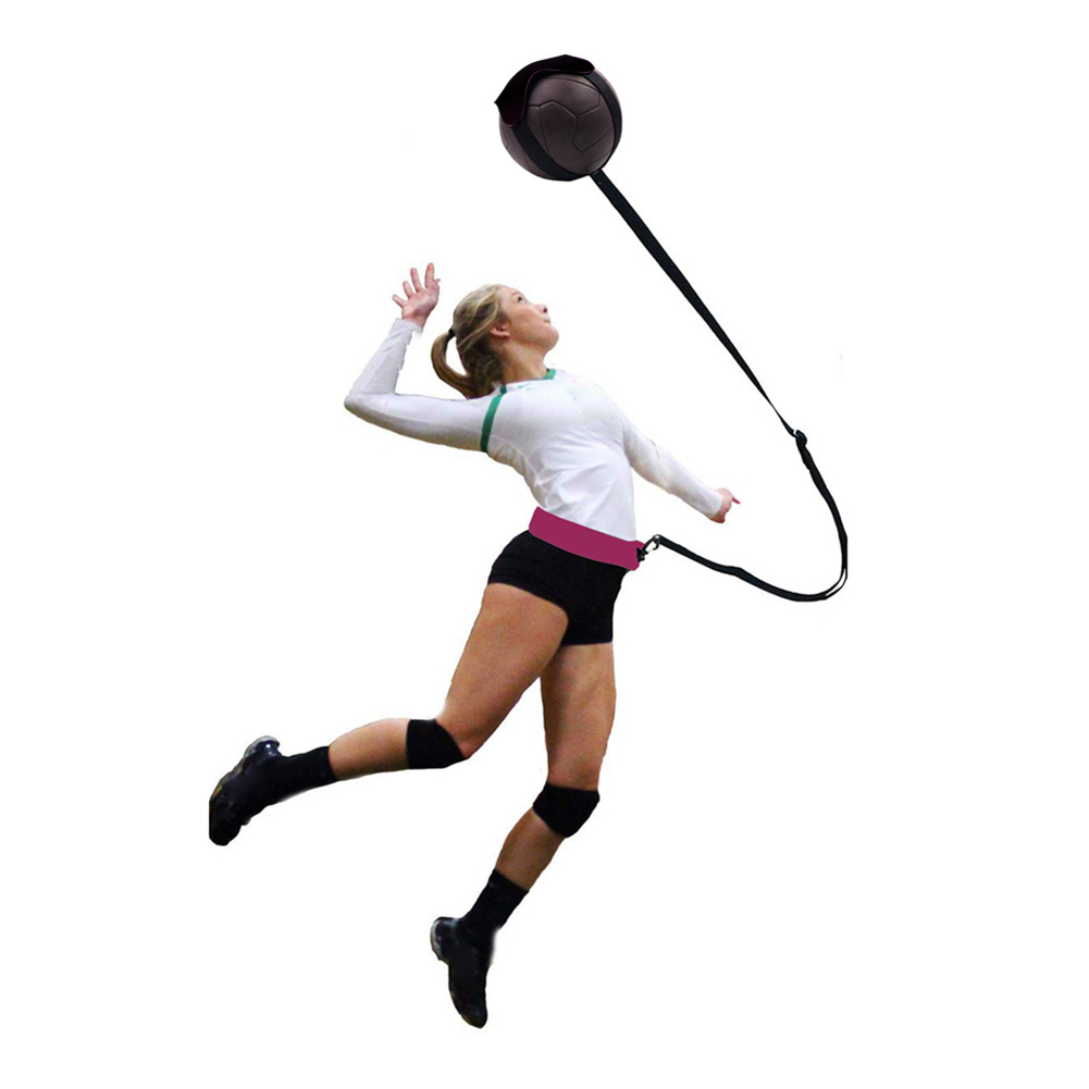 Professional Volleyball Ball Practice Belt Volleyball Training Belt Adjustable Hand Free Kid Adult Volleyball Trainer Equipment