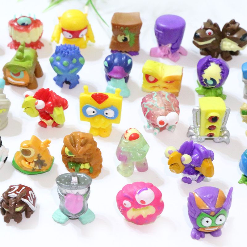 Super Zings Action Figures Garbage Dolls 3CM PVC SuperZings Series Collection Toys Model For Kids Christmas Gift Randomly Send